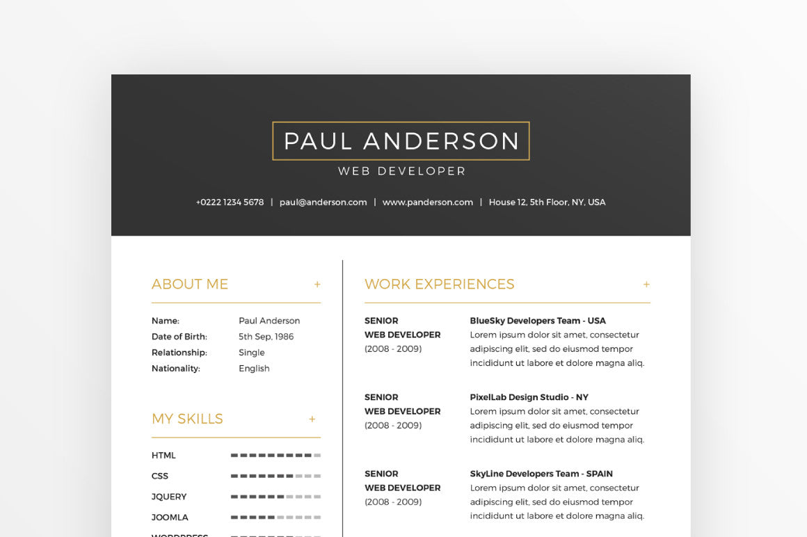 Free Resume Cover Letter Template Creativebooster