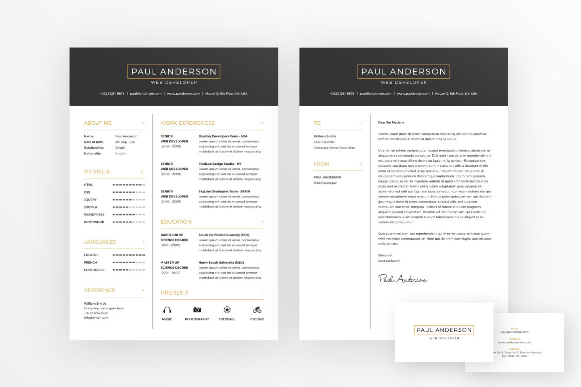 font for cover letter