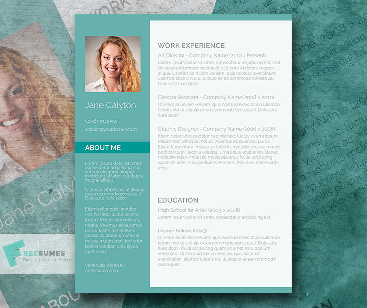 Free Creative Classy Emerald CV Resume Template In Minimal Style Microsoft Word DOC Format