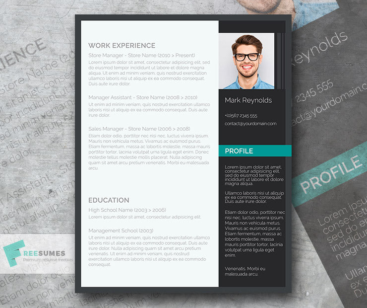 Free Modern Professional Cv Resume Template In Minimal Style In