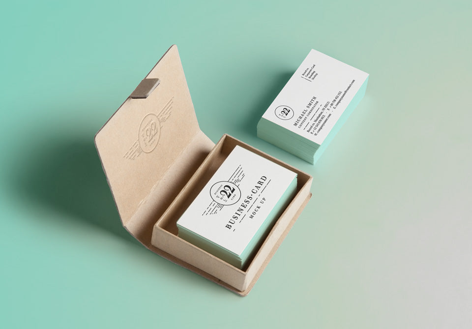 Free business card mockups creativebooster free psd business card mock up colourmoves