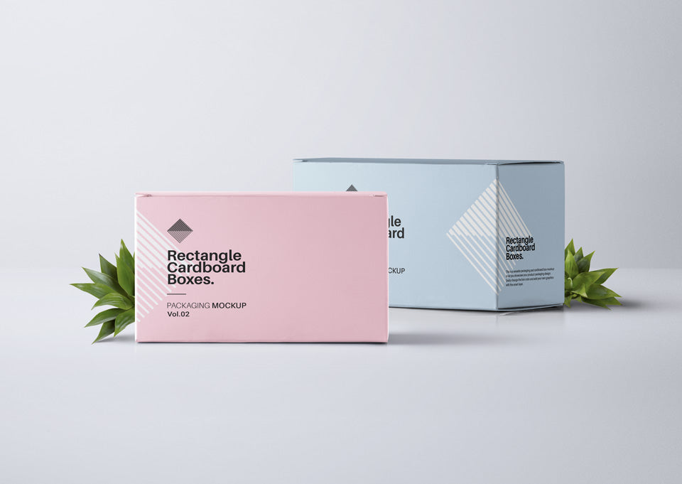 free rectangular psd packaging box mockup front view creativebooster