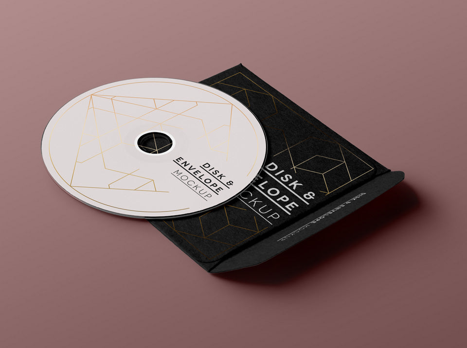 Free Cd Disk Cover Mockup Creativebooster