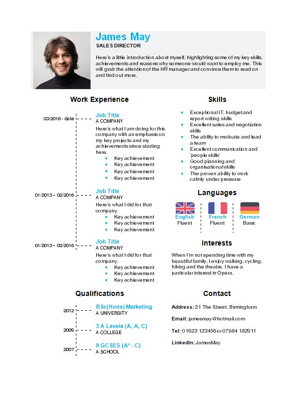 Free Timeline Cv Resume Template In Microsoft Word Docx Format Creativebooster