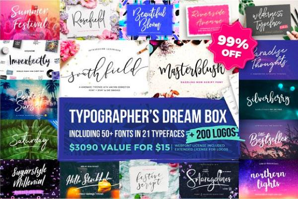 Typographer's Dream Box + 200 Logos