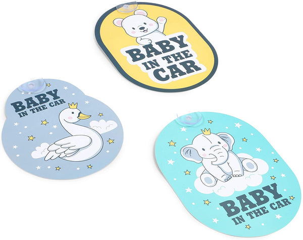 Car Decal Sticker, Baby in The Car (3 Pack)