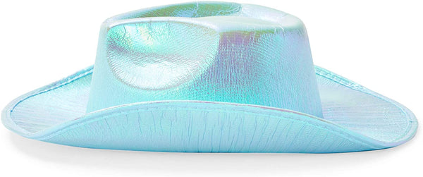 Zodaca Holographic Cowboy Hat (Light Blue)
