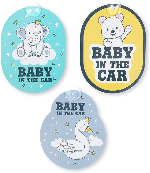 Car Window Stickers and Decals, Baby in The Car (3 Pack)