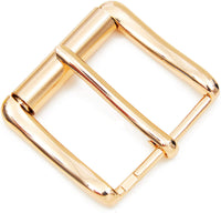 Gold Metal Snap Belt Refill Buckles for Leather Belt Craft (1.8 x 2 in, 2 Pk)