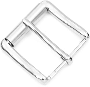 Silver Snap Belt Refill Buckles (1.8 x 2 in, 2 Pack)
