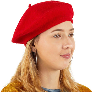 Zodaca French Beret Hats for Women, Knit Fashion Caps for Adults in 3 Colors (3 Pack)