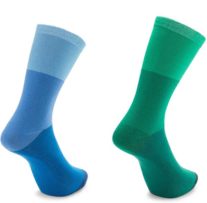 Men's Dress Socks with 5 Colorful Fun Block Patterns (Size 8-11, 5 Pairs)