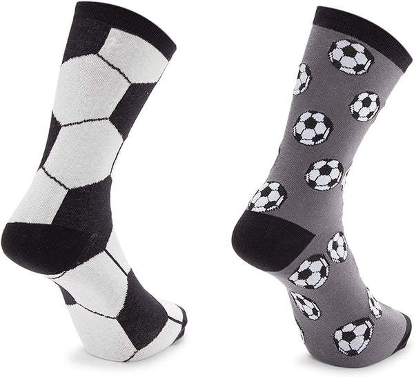 Boys Crew Socks, Soccer Party Favors (2 Pairs)