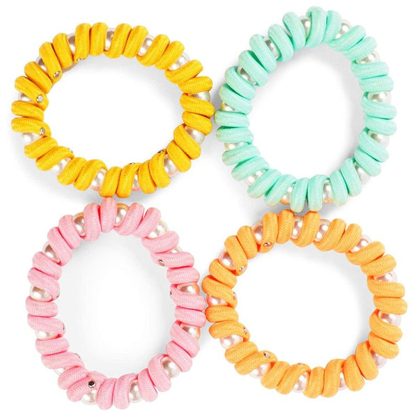 Telephone Cord Hair Ties (8 Pack)