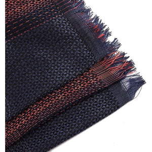 Women's Blanket Scarf Shawl Wrap, Red and Blue (75 x 35.5 in)