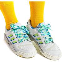 Flat Tie-Dyed Shoe Laces in 6 Designs (47 Inches, 6 Pairs)