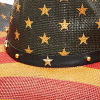 Vintage Cowboy Party Hat with American Flag Design for Adults (Unisex)
