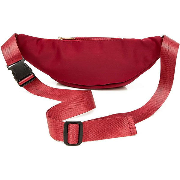 "Red Fanny Pack Belt Bag Pouch with Adjustable Waist Strap 34""-60"" Expands to 5XL"
