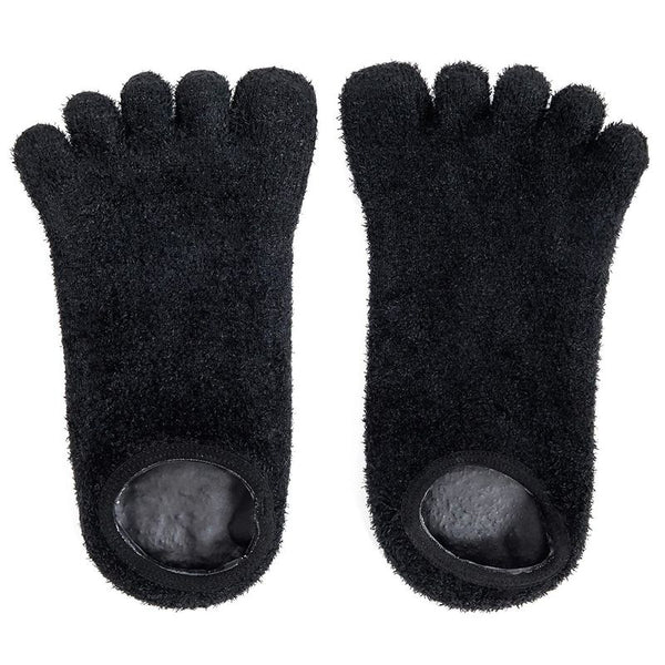 2x 5-Toe Gel Moisturizing Moisturizer Socks for Spa Foot Dry Feet Cracked Heel