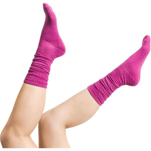 Warm Knitted Slouch Socks for Women in 5 Colors (US Size 7-10, 5 Pairs)