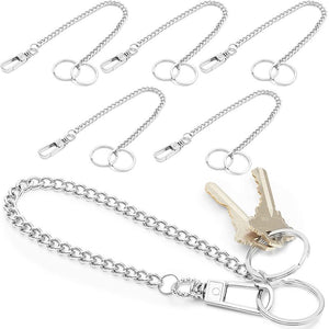 Heavy Duty Pocket Keychain with Lobster Clasp (13 In, 6-Pack)