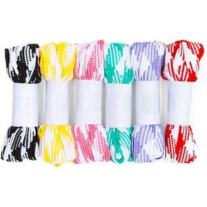 Flat Shoe Laces for Sneakers, Gingham Plaid Shoelaces (52 In, 6 Pairs)