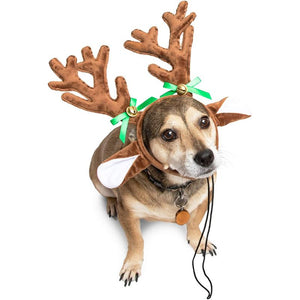 Reindeer Antlers for Dogs, Pet Christmas Costume (2 Pack)