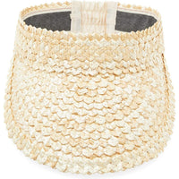 Straw Gardening Hat for Women and Men, Unisex Sun Visor (4.5 x 22 in) Beige