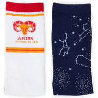 Aries Zodiac Sign Crew Socks for Women and Men (2 Pairs)