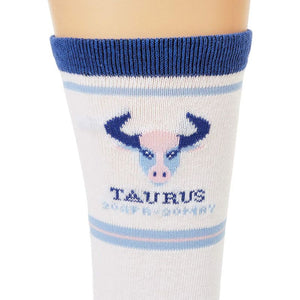 Taurus Zodiac Sign Crew Socks for Women and Men (2 Pairs)