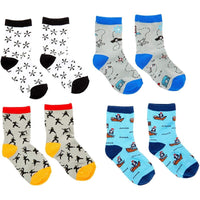 Ninja Lovers Crew Socks for Boys, Fun Gift Set (One Size, 12 Pairs)
