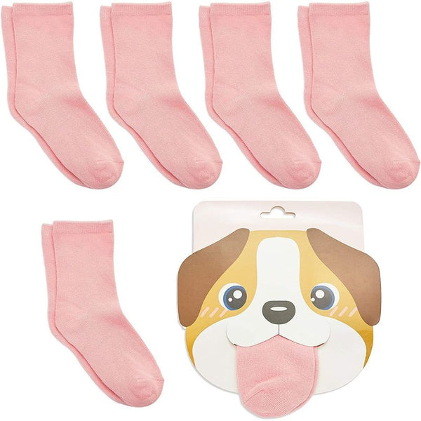 Dog Lovers Socks for Girls, Novelty Party Favors (One Size, 6 Pairs)