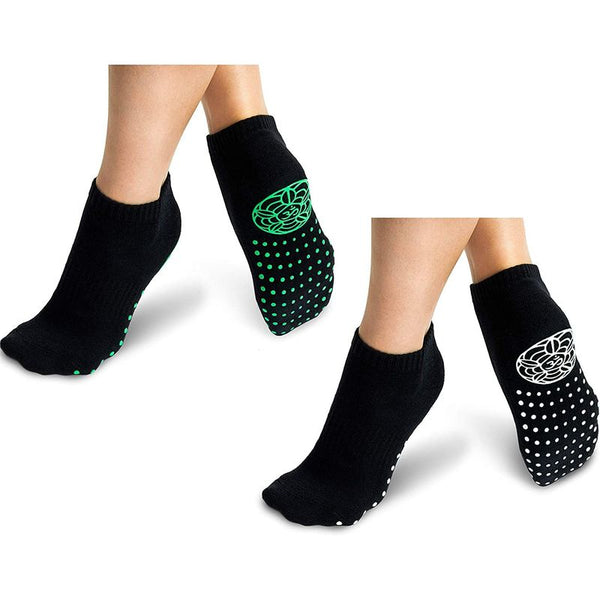 Anti-Slip Yoga Socks for Women (Black, 2 Pairs)