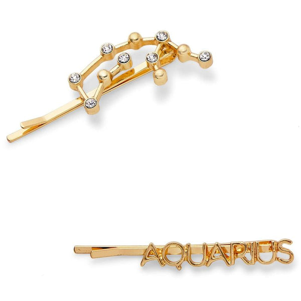 Rhinestone Hair Pins, Aquarius (2-Pack)