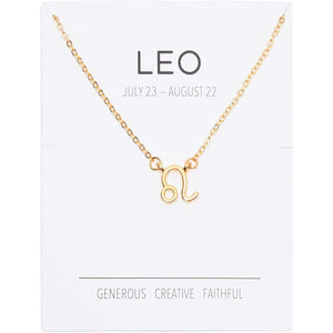 Leo Zodiac Necklace and Bracelet, Astrology Jewelry Set for Women (2 Pieces)