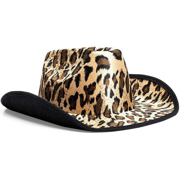 Zodaca Fun Party Cowboy Hat, Leopard Print (Adult Size, Unisex)