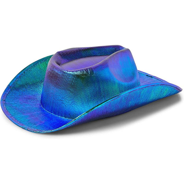 Zodaca Holographic Green Cowboy Hat