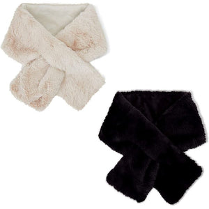 Faux Fur Neck Collar Wraps for Women (6.25 x 40 In, 2 Pack)