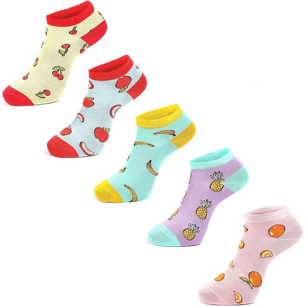 Fruit Socks for Women, No Show (5 Pairs)
