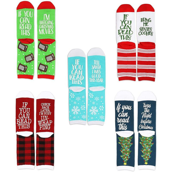 Christmas Socks, If You Can Read This (5 Pairs)
