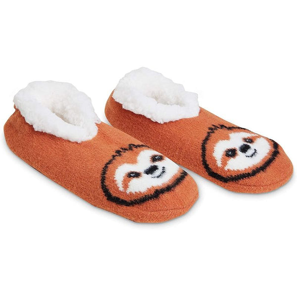 Faux Fur Slippers, Sloth & Panda (US 8-10, 2 Pack)