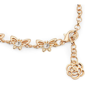 Rose Gold Butterfly Chain Belt for Women (43 Inches, Adjustable)