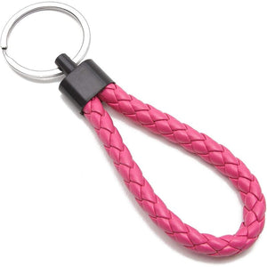 Paracord Keychains in 6 Colors (4.4 x 1.2 Inches, 24-Pack)