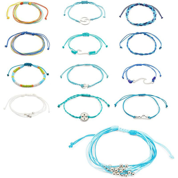 Nautical Bracelets for Women, Adjustable Jewelry, 15 Designs (15 Pack)