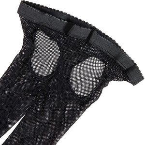 Black Crotchless Fishnet Stocking for Women in One Size