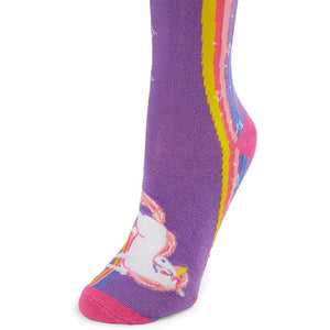 Unicorn Socks for Women, One Size (Blue, Purple, 2 Pairs)