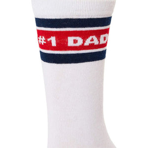 Fathers Day Crew Socks for Men, Fun Gift Set for Dad (One Size, 2 Pairs)