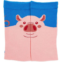 Pig Crew Socks for Women, Fun Sock Gift Set (One Size, 2 Pairs)