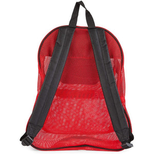 Red Mesh Backpack with Pockets for Kids (13.8 x 17 x 5.5 Inches)