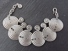 Sprial Ethnic Statement Bracelet - Authentic Turkish Style